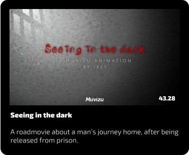 Seeing in the dark  A roadmovie about a man's journey home, after being released from prison. 43.28